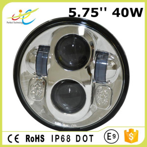 Super powerful 12v 40w 5.75inch round led headlight for motorcycle