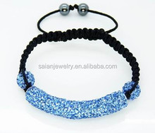 shamballa tube bracelets light blue pink color woman bracelets factory OEM cheap price