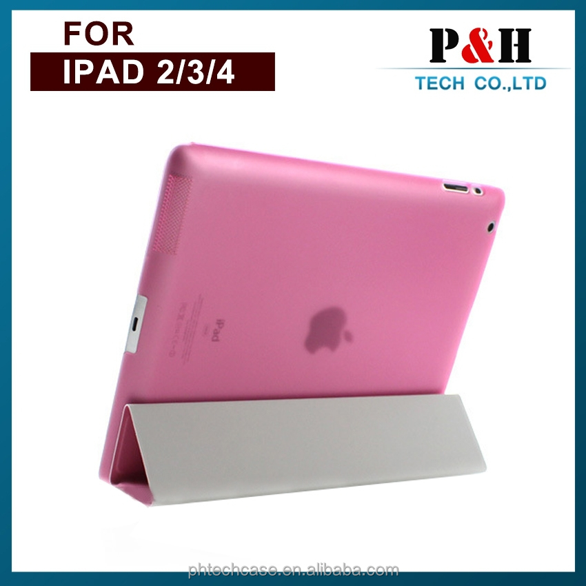 PU leather smart Slim cover case for iPad 2/3/4