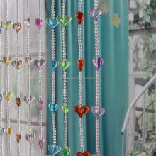 Charming !!China Supplier Factory Wholesale Acrylic Crystal Round Shape & Colorful Heart Pattern Beaded Curtains For Decoration