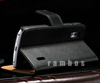 Genuine Leather Case for Google Nexus 4 Flip Wallet Stand Credit Card Holder Case for LG E960