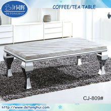 Home furnishing modern designed stainless steel marble coffee/tea table CJ-809
