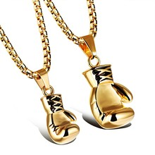 Best Selling Products Stainless Steel Boxing Gloves Charm Pendant Couple Gift Custom Bodybuilding Jewelry