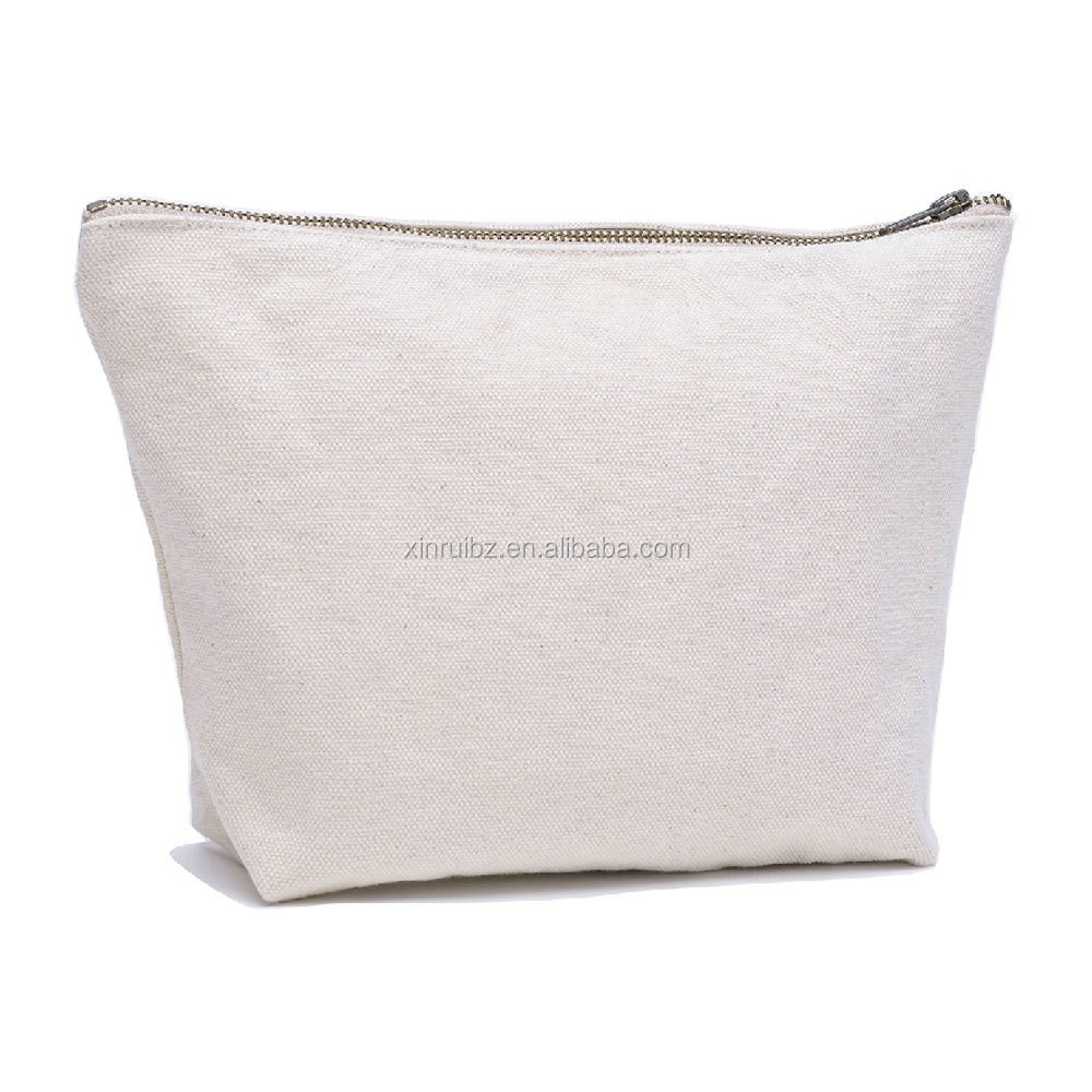 <strong>Manufacturer</strong> supply directly high quality zipper pouch blank canvas cosmetic bag