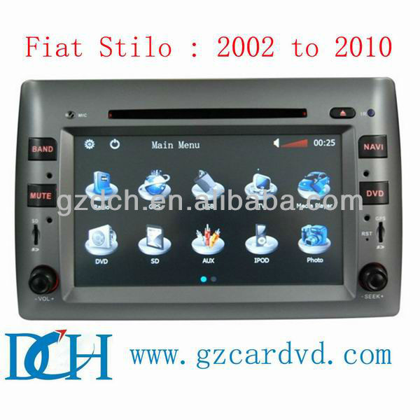 fiat 500 multimedia car dvd player dvd + gps fiat stilo 2002- 2010 WS-8807