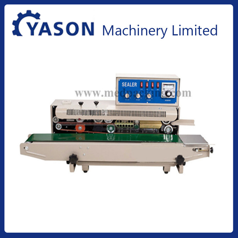 FRD-1000-I-type type ink coding continuous sealer bag sealing machine with counter