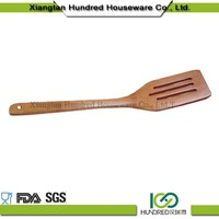 food safe bamboo slotted turner , utensils kitchen bamboo curved turner, manufactory salad tool bamboo slotted turner
