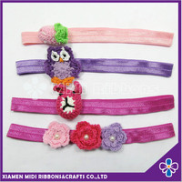 New Arrival Elastic Flower Headband with Knitting Animal trim Pat