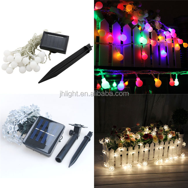 Led solar string light outdoor decorative lighting for home holiday