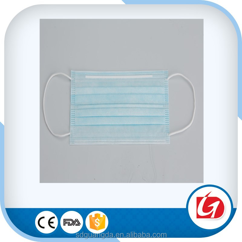 Nonwoven disposable face mask for food service