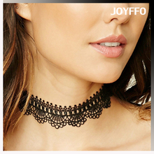 2016 trending popular jewelry ladies black lace frog 2 color choker necklace