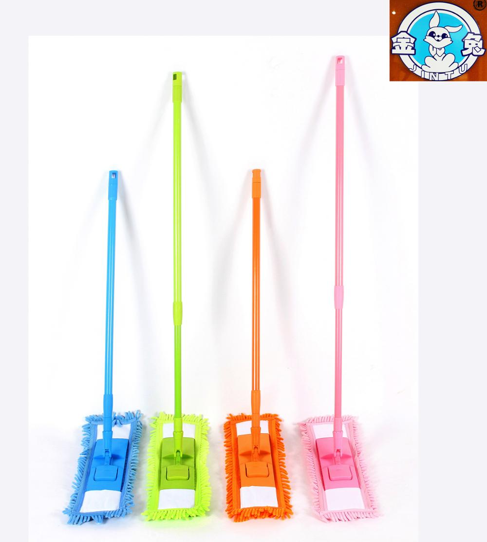 ZH01 microfiber chenille telescopic pole floor cleaning flat mop