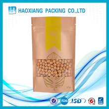 Stand up pouch custom food snack corn packaging biodegradable paper bag