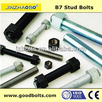 a193 b7 a 194 2h stud bolts and nuts plain/black/galvanized/HDG