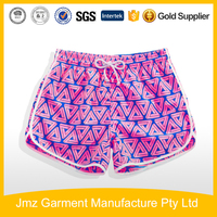 Hot summer beach shorts for girls custom shorts