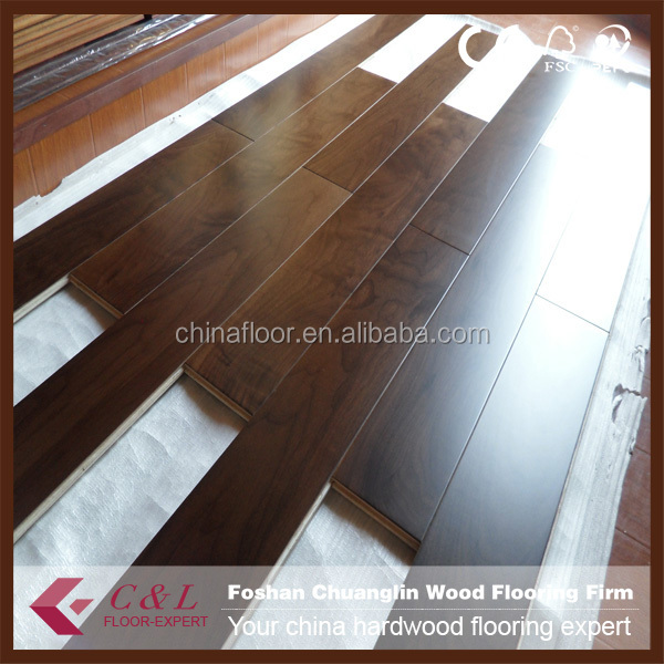 Guangzhou dark color Brazilian walnut solid wood flooring