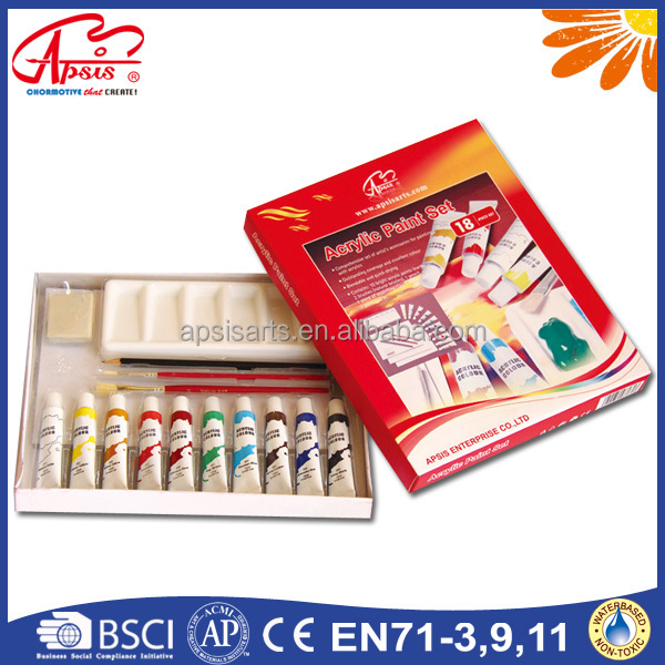 factory artist acrylic paint set