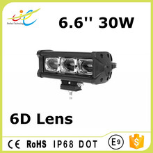6D oval beam pattern 10W Cree single row offroad led light bar