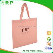 Hot sale simple durable coated color embossed non woven bag with metallic lamination