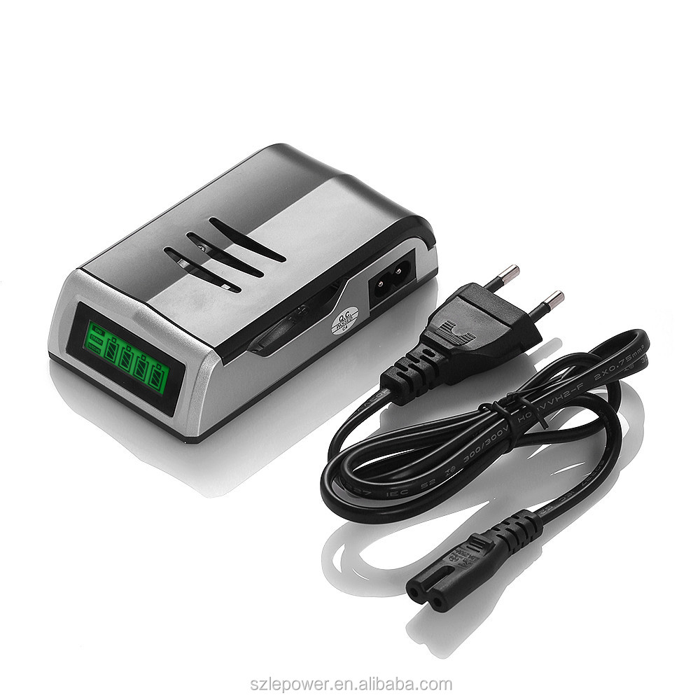 High Quality Rohs LCD Automatic Battery Charger for AA AAA Rechargeable Batteries