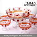 Ice cream bowls set of 7 &Round fruit glass tableware&Colored glassware set