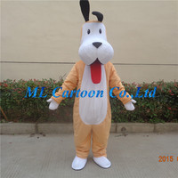 factory direct sell lifelike long ears dog mascot costume role performance costume for adults