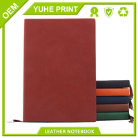 Full color adhesive bound thick cardboard China printing spiral binding best price notebook leather cover