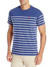 Men's Solid and Stripe V-Neck T-Shirt
