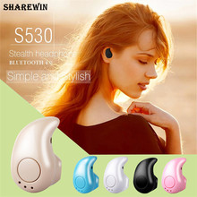 Super Mini Stereo Bluetooth Headset S530 In-Ear Wireless Earphone For Mobile Phone