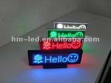 Desk office sign /mini led sign board/led mini sign board