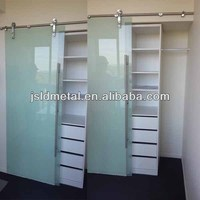 Frosted tempered glass cabinet sliding closet door wardrobe sliding door