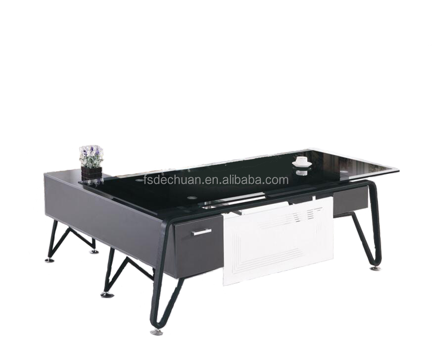 DECHUAN 2016 SOHO office table/home furniture /glass computer desk