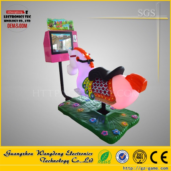 Low price Amusement kiddie ride Coin operated horse racing game machine indoor kids crazy 3D horse racing