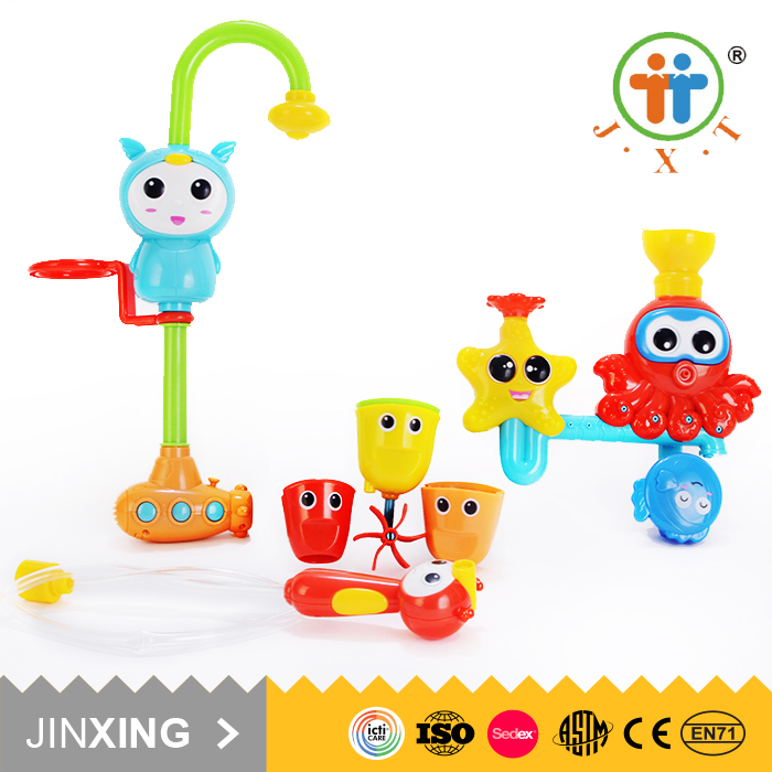 new wholesale funny colorful bathing plastic baby play set bath toy for kids