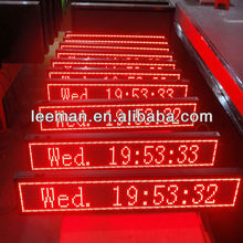 Leeman p7.62 P10 RS232 P7.62-16*96 R flat panel LED dot matrix message display board