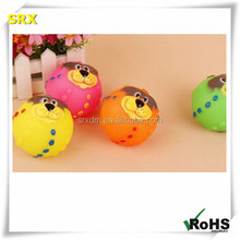 fashion puppy face solid RUBBER balls PET DOG TOYS for chewing/custom eco-friendly pet toys natural rubber balls manufacturer