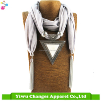 Scarf Fashion 2017 Summer Pendant Scarf Necklace