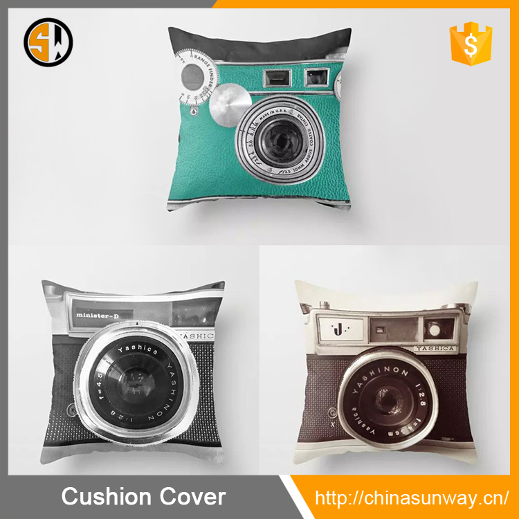 3D Printing Various Types Of Vintage Camera Home Decor Throw Pillow Case Personalized Custom Cushion Cover Wholesale In Stock