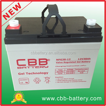 long life 38ah 12V gel battery for car audio