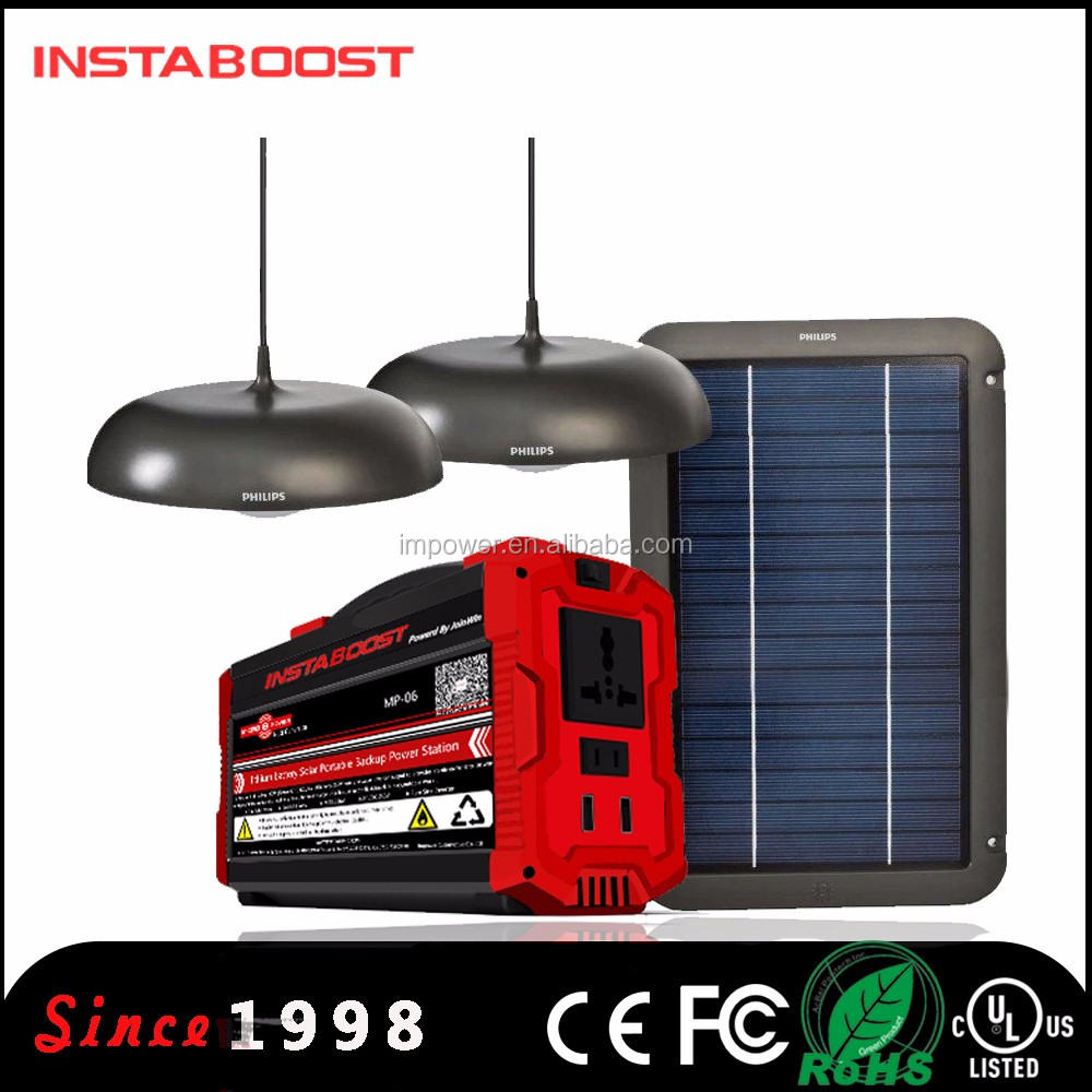 instaboost IPSG400 Fuelless Solar Generator Lion Energy battery power pack