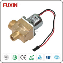 90 degree sanitary flow control shut off water valve water brass electric valve 12v