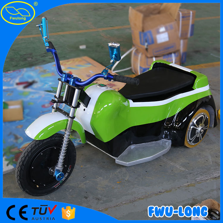 Fiberglass body electric indoor children ride on toy moto tricycle