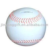 Custom Polyresin baseball shape saving bank coin bank for kids
