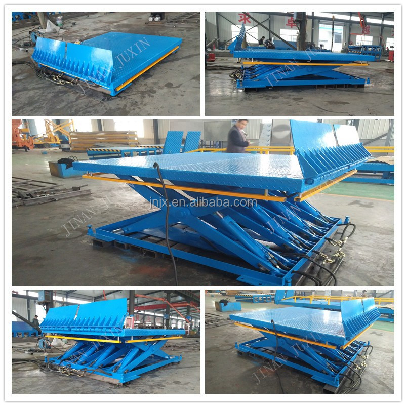 Fixed truck loading unloading lift platform