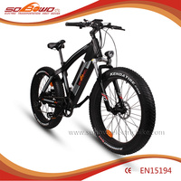 SOBOWO fat tire electric bike/electric bicycle with hidden battery inexpensive but substantial