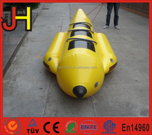 2016 Eye Catching 3 Person PVC Material Inflatable Banana Boat For Sale