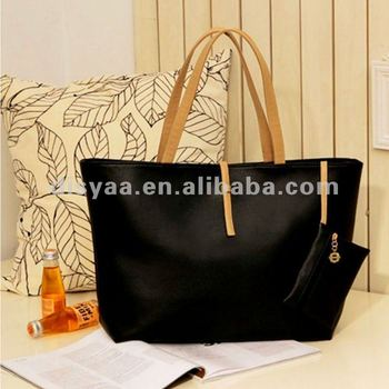 2017 bag lady leather handbag/leather tote bag ladies hand bag