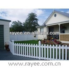 White / Wood grain PVC fence colors / blanco cerca de vinilo