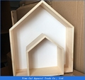 New Fashion INS Birthday Christmas Gift Wall Wooden house Room On Wall decorative props for Kids Room