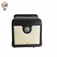 Hot sale 2018 8 SMD wall mounted solar garden lamp solar motion sensor security light